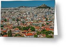 View Of Athens, Greece, From The Parthenon Greeting Card