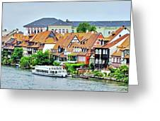 View Of Bamberg Riverfront Greeting Card