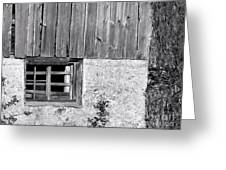 View Of Barn Exterior Greeting Card