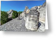 View Of Becan, Mexico Greeting Card