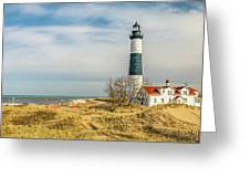 View  Of Big Sable Point Michigan Greeting Card