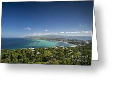 View Of Boracay Island Tropical Coastline In Philippines Greeting Card