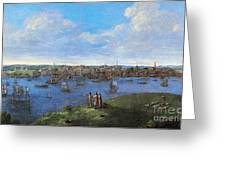 View Of Boston, 1738 Greeting Card