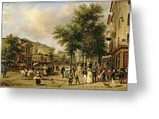 View Of Boulevard Montmartre Greeting Card