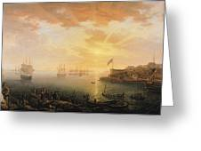 View Of Brest Harbor Greeting Card