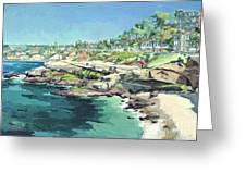 View Of Brockton Villa, La Jolla, California Greeting Card