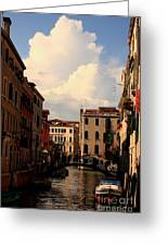 View Of Canal In Venice Greeting Card