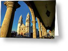 View Of Cathedral And Arches Greeting Card