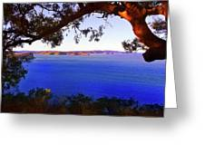 View Of  Central Coast From West Head  Greeting Card