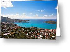 View Of Charlotte Amalie St Thomas Us Virgin Islands Greeting Card