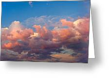 View Of Clouds In The Sky Greeting Card