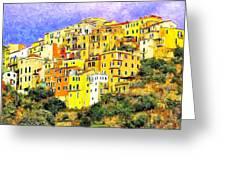 View Of Corniglia - Cinque Terre Greeting Card