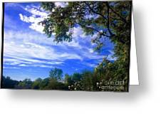 View Of Countryside In Frederick Maryland In Summer Greeting Card