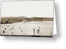 View Of Del Monte Bath House Looking Southwest Towards Monterey  Greeting Card
