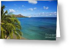 View Of Diamond Head Greeting Card