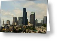 View Of Downtown Greeting Card
