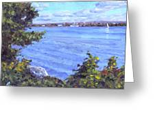 View Of Erie Greeting Card