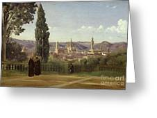 View Of Florence From The Boboli Gardens Greeting Card