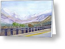 View Of Franconia Notch Greeting Card