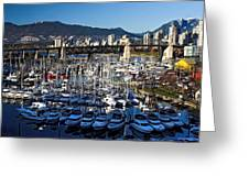 View Of Grandville Island Vancouver Canada Greeting Card