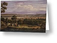 View Of Greenock  Scotland 1816 By Robert Salmon Greeting Card