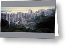 View Of Hong Kong Greeting Card