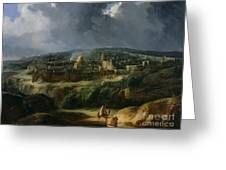 View Of Jerusalem From The Valley Of Jehoshaphat Greeting Card