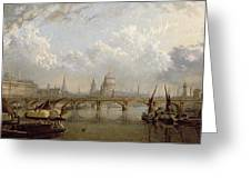 View Of London  Greeting Card