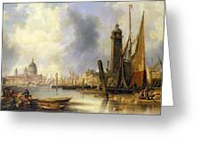 View Of London With St Paul's Greeting Card