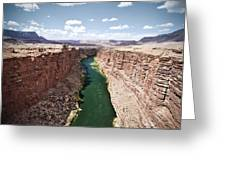 View Of Marble Canyon From The Navajo Bridge Greeting Card