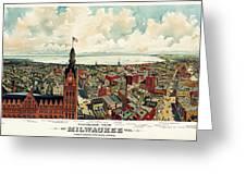 View Of Milwaukee 1898 Greeting Card