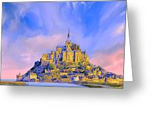 View Of Mont Saint Michel Greeting Card