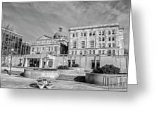 View Of Montgomery County Courthouse From The Southside In Black Greeting Card