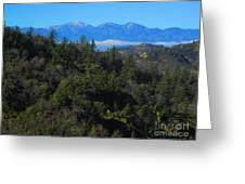 View Of Mount Baldy From The San Bernardino Mountains Greeting Card