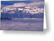 View Of Mount Everest In Nepal Greeting Card