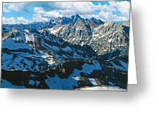 View Of Mountains, Table Mountain Greeting Card