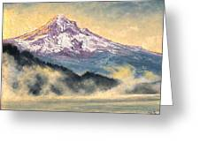 View Of Mt Hood Greeting Card
