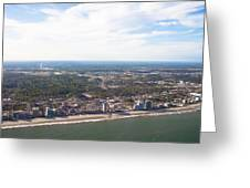 View Of Myrtle Beach Greeting Card