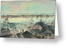 View Of New York From Brooklyn Heights Ca. 1836, John William Hill Greeting Card