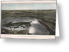View Of Niagra Falls 1907 Greeting Card