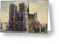 View Of Notre Greeting Card