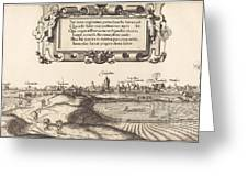 View Of Nuremberg From The East [left Section] Greeting Card