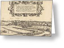 View Of Nuremberg From The West [left Section] Greeting Card