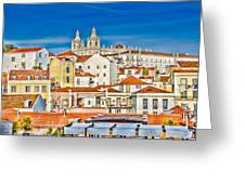 View Of Old Alfama Greeting Card
