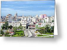 View Of Old Town Havana Greeting Card