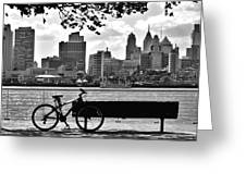 View Of Philadelphia  Greeting Card