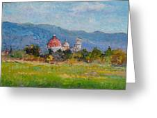 View Of Pisa From Countryside Greeting Card