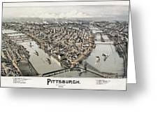 View Of Pittsburgh, 1902 Greeting Card