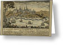 View Of Quebec City 1759 Greeting Card
