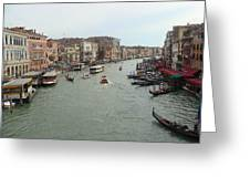 View Of Rialto Bridge Greeting Card